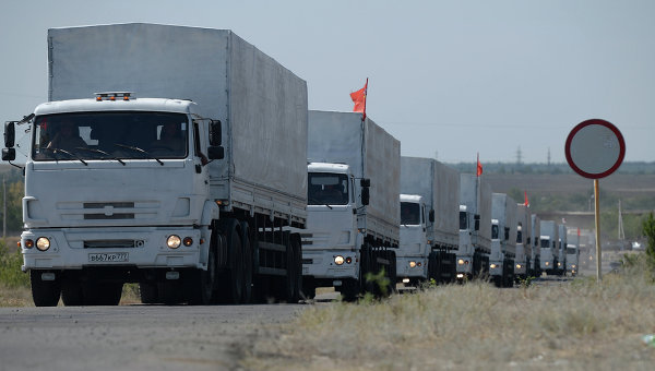 Колонна с гуманитарной помощью из РФ