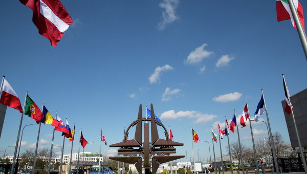 Sede della NATO a Bruxelles.  foto d'archivio