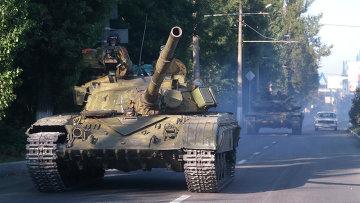 Бойцы народного ополчения возле Макеевки. Архивное фото.