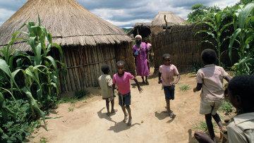 Африканская деревня. Архивное фото