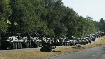 Военная техника украинских силовиков под Мариуполем, архивное фото