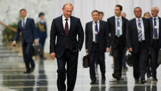 Президент России Владимир Путин в Минске