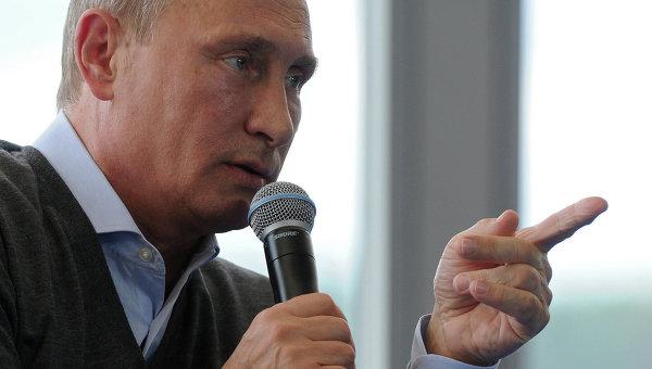 В.Путин посетил молодежный форум Селигер-2014