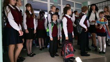 Дети беженцев из Украины в российских школах. Архивное фото