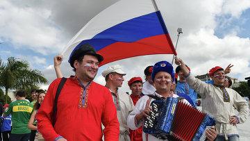 Болельщики сборной России. Архивное фото