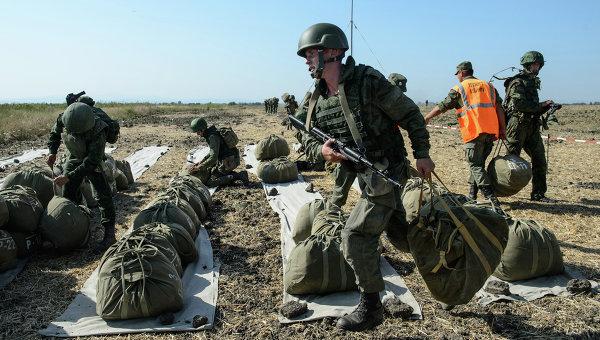 Совместные российско-белорусские тактические учения в Краснодарском крае