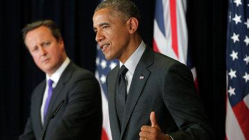 Президент США Барак Обама и премьер-министр Великобритании Дэвид Кэмерон. Архивное фото