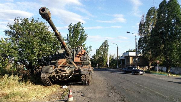 Украинская техника в селе Новоекатериновка. Архивное фото