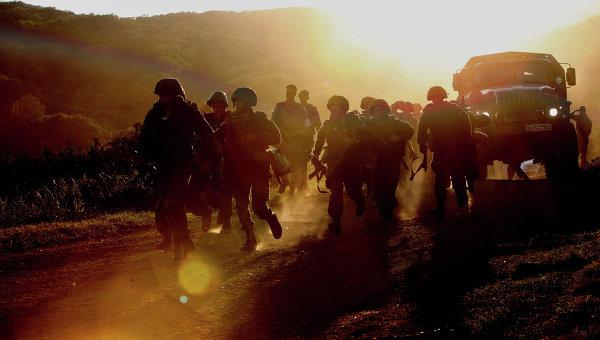 Военнослужащие бригады морской пехоты Тихоокеанского флота. Архивное фото