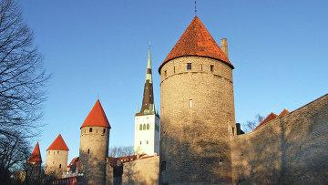 Вид на старый Таллин, Эстония. Архивное фото