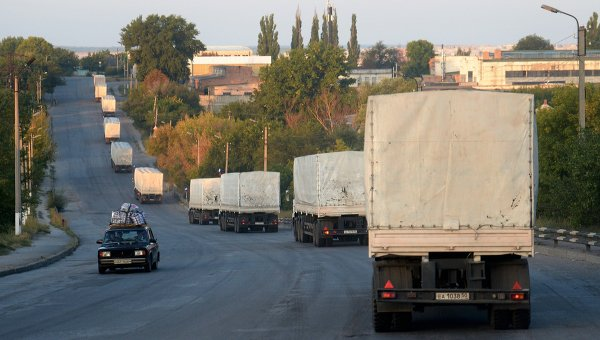 Российский конвой с гуманитарной помощью юго-востоку Украины. Архивное фото