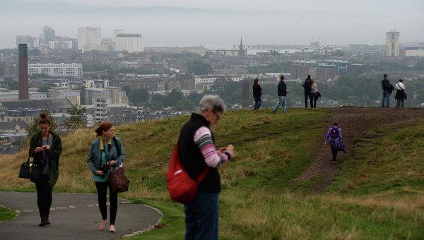 Вид на город Эдинбург. Архивное фото