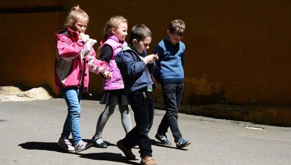 Школьники в Донецке. Архивное фото