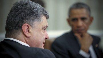 Петр Порошенко на встрече с Бараком Обамой