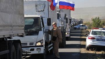 Третий российский гуманитарный конвой для юго-востока Украины
