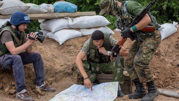 Бойцы ополчения Донбасса. Архивное фото