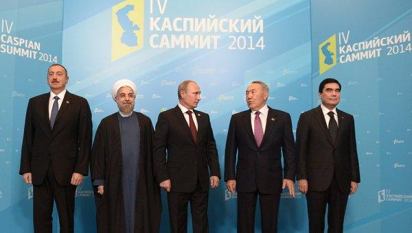 В.Путин принимает участие в четвертом Каспийском саммите