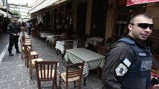 Сотрудники греческой полиции. Архивное фото