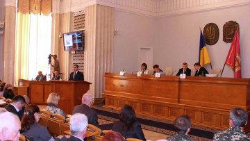 Заседание Харьковского областного совета. Архивное фото