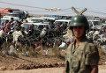 Турецкий солдат на турецко-сирийской границе