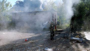 Бои в районе города Донецка. Архивное фото