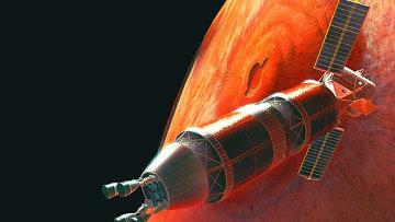 Проект пилотируемого корабля для полета на Марс, архивное фото