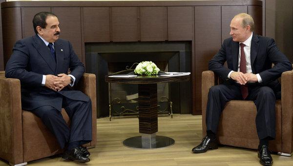 Встреча президента РФ В.Путина с королем Бахрейна