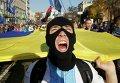"""Активисты партии """"Свобода"""" на митинге перед Верховной Радой Украины, в Киеве, 14 октября 2014"""