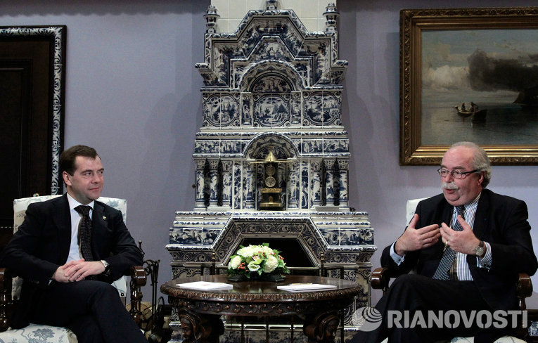 Встреча Дмитрия Медведева с Кристофом де Маржери