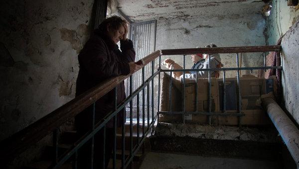 Жители Донецка в убежище. Архивное фото