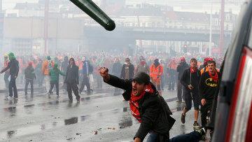 Национальная акция протеста в Брюсселе. 6 ноября 2014