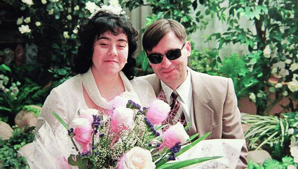 Свадебное фото из семейного архива Новиковых