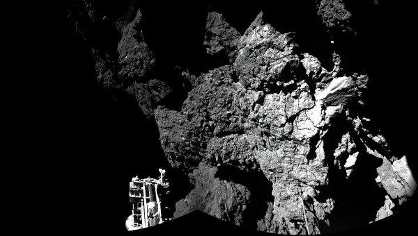 Посадочный модуль космического аппарата Розетты Фил благополучно приземлился на ядро кометы Чурюмова-Герасименко