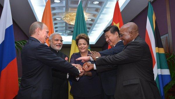 Главы государств и правительств стран-участниц БРИКС