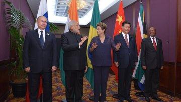 Лидеры стран БРИКС на саммите G20 в Брисбене