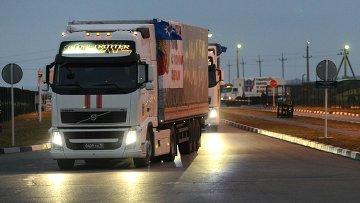 Седьмой гуманитарный конвой направляется на Украину