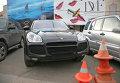 "Автомобиль ""Porsche Cayenne"" в центре Москвы"