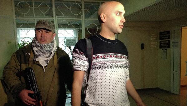 Английский журналист Грэм Филлипс в Донецке. Архивное фото.
