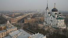 Благовещенский собор в Первомайском сквере Воронежа. Архивное фото