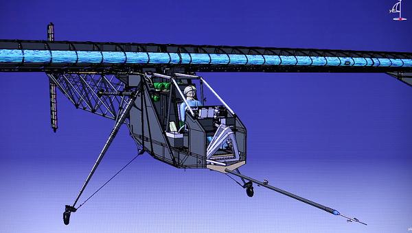 Рисунок самолёта на солнечных батареях. Архивное фото