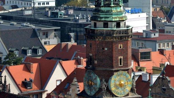 Вид на центральную часть Вроцлава. Архивное фото