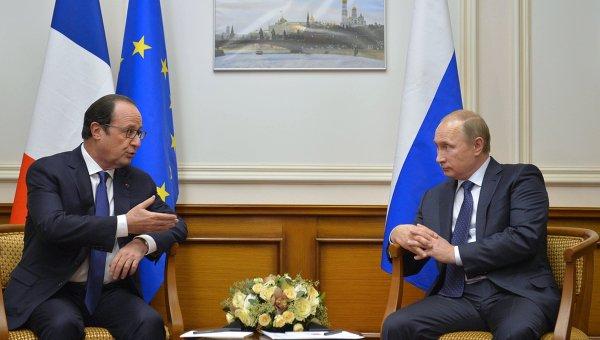 В.Путин встретился с Ф.Олландом