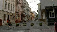 Улица Валовая в Старом городе, Тернополь, Украина. Архивное фото
