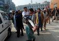 Студент, получивший ранение в результате захвата боевиками военного училища в Пакистане, 16 декабря 2014