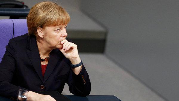 Канцлер ФРГ Ангела Меркель в Бундестаге. Архивное фото