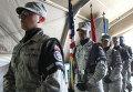 Военнослужащие армии США во время торжественного собрания