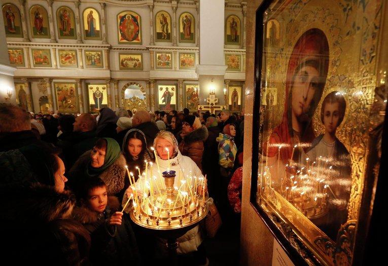 Празднование Рождества в Красноярске
