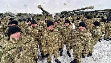 Украинские военнослужащие. Архивное фото.