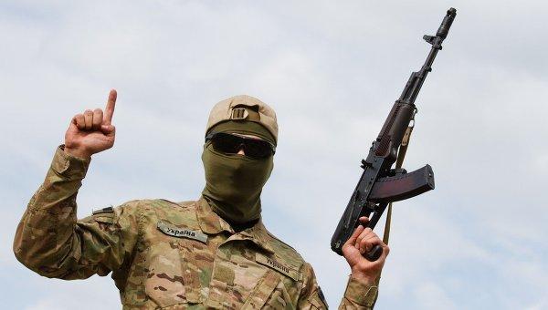 Боец батальона Айдар