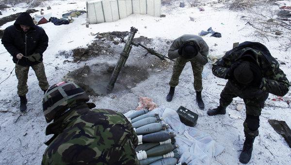 Украинские военнослужащие в Донбассе, архивное фото